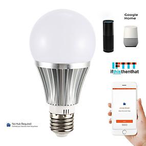 olcso LED gömbbúrás izzók-1db 18 W LED gömbbúrás izzók Okos LED izzók 700 lm E14 B22 E26 / E27 21 LED gyöngyök APP vezérlés Smart Időzítés Multi-szín 85-265 V