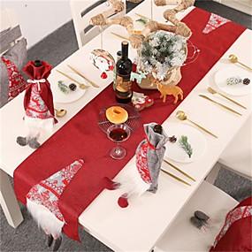 olcso Tányéralátét-karácsonyi díszek rudolph asztali zászló kreatív háromdimenziós öreg asztaldísz terítő asztalterítő