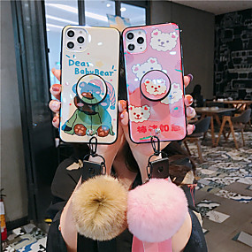 cheap iPhone 11-Case For Apple iPhone 11 / iPhone 11 Pro / iPhone 11 Pro Max with Stand / Pattern Back Cover Word / Phrase / Animal TPU