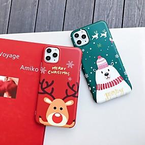 voordelige iPhone 11 Pro Max hoesjes-hoesje voor Apple iPhone 11 / iPhone 11 pro / iPhone 11 pro max / 6 / 6p / 7/8 / 7p / 8p / x / xr / xsmax stofdicht imd achterkant cartoon / kerst tpu