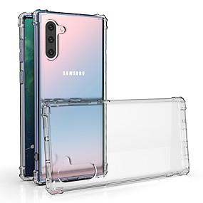 Недорогие Чехлы и кейсы для Galaxy Note 8-Кейс для Назначение SSamsung Galaxy S9 / S9 Plus / S8 Plus Защита от удара Кейс на заднюю панель Прозрачный ТПУ