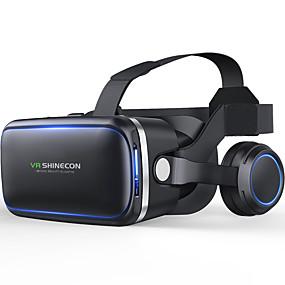 olcso VR Glasses-shinecon 60 casque vr virtuális valóság szemüveg 3 d 3d szemüveg fejhallgató sisak iphone android okostelefon okostelefon sztereó