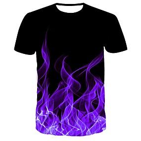 povoljno Muške majice-Majica s rukavima Muškarci Dnevno 3D purpurna boja