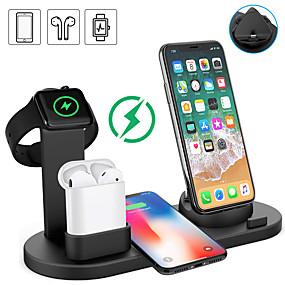 olcso Vezeték nélküli töltők-Smartwatch Charger / Dokkoló töltővel / Vezeték nélküli töltő USB töltő USB Több csatlakozós / Vezeték nélküli töltő 1.5 A DC 9V / DC 5V mert Apple Watch Series 4/3/2/1 iPhone 8 / S9 / S9 Plus