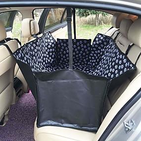 olcso Kisállat  Kellékek-háziállat hordozók oxford szövet mancs mintás autó háziállat üléshuzat kutya kocsi hátsó ülés hordozó vízálló háziállat szőnyeg függőágy párnavédő