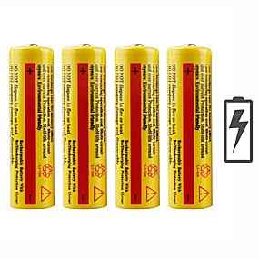 povoljno Oprema za sport i outdoor-baterija emiteri Može se puniti Hitan Rad Baterijska svjetiljka Bike Light Camping & planinarenje Lov Ribolov 4kom