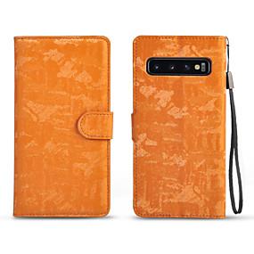 Недорогие Чехлы и кейсы для Galaxy Note 8-Кейс для Назначение SSamsung Galaxy S9 / S9 Plus / Note 9 Бумажник для карт / Магнитный / Авто Режим сна / Пробуждение Чехол Однотонный Кожа PU