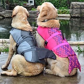 olcso Kisállat  Kellékek-kedvtelésből tartott kutya mentőmellény biztonsági ruházat mentőmellény gallér hámvédő házi kedvenc kutya úszásvédő nyári fürdőruha sellő cápa