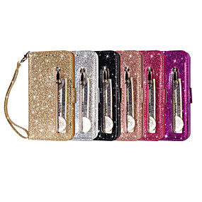 Недорогие Чехлы и кейсы для Galaxy Note 8-Кейс для Назначение SSamsung Galaxy S7 edge / Note 9 / Note 8 Кошелек / Бумажник для карт Чехол Однотонный Кожа PU
