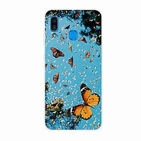 olcso Galaxy S9 Plus tokok-Case Kompatibilitás Samsung Galaxy S9 / S9 Plus / S8 Plus Minta Fekete tok Pillangó TPU