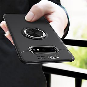 Недорогие Чехлы и кейсы для Galaxy Note 8-чехол для samsung galaxy s10plus / s10e / s10 / s9 / s9plus / s8plus / s8 / note10 / note10pro / note9 / note8 противоударный / кольцевой держатель / ультратонкая задняя крышка однотонная тпу