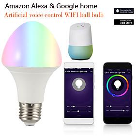 olcso LED gömbbúrás izzók-1db 7 W LED gömbbúrás izzók Okos LED izzók 700 lm B22 E26 / E27 21 LED gyöngyök APP vezérlés Smart Időzítés Multi-szín 85-265 V