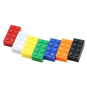 זול חדרי תצוגה של מותגים-צעצוע לבני לב כונן פלאש 8 גרם כונן פלאש usb צבעוני 32 ג'יגה-בתים מיני קריקטורה אבן בניין פלסטיק pendrive