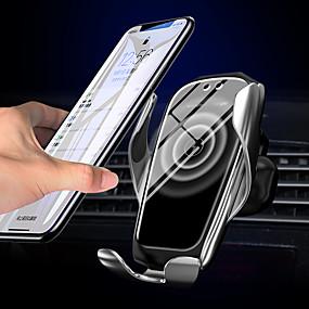 abordables Electroniques de Voiture-x5 nouvelle version support de support de voiture de support de voiture de support de voiture de serrage sans fil qi support rapide pour samsung s10 / 10 s9 s8 note9 iphone 11 xs xr