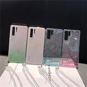 Недорогие Чехлы и кейсы для Galaxy Note 8-Кейс для Назначение SSamsung Galaxy S9 / S9 Plus / S8 Plus Прозрачный / Сияние и блеск Кейс на заднюю панель Градиент цвета ТПУ