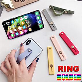 olcso szabadtéri testmozgás-ujjgyűrű-tartó, szilikon telefon kézi szalagtartó iphone karkötő-hevederhez, push pull markolat állvány konzol nagykereskedelem