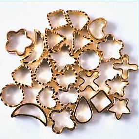 cheap Health & Beauty-1pcs Nail Art Metal Accessories Hollow Metal Ring