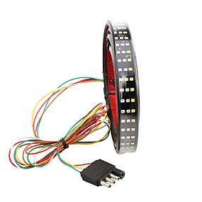 Недорогие Задние фонари-1 шт. Автомобиль светодиодный задний фонарь 150 см полоса грузовик полосы тройной светодиодный задний фонарь задний фонарь с работающим тормозом сигнал поворота для пикап джип пикап dodge