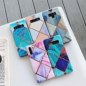Недорогие Чехлы и кейсы для Galaxy Note 8-Кейс для Назначение SSamsung Galaxy S9 / S9 Plus / S8 Plus Покрытие / IMD / С узором Кейс на заднюю панель Геометрический рисунок / Мрамор ТПУ