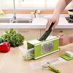 رخيصةأون أدوات & أجهزة المطبخ-5 في 1 متعددة الوظائف الخضار القاطع مجموعات للبطاطا الجزرة الكرنب مقشرة القطاعة المبشارة أدوات المطبخ أداة