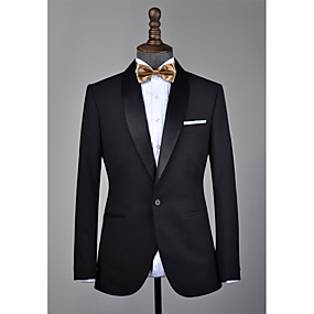 levne Vlastní Tuxedo-černá šála klopové vlny vlastní smoking
