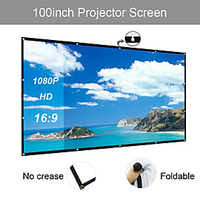 ieftine Proiectoare & Accesorii-169 106 * 59 inch ecran de proiecție portabil pliabil fără plită pentru home theater în aer liber
