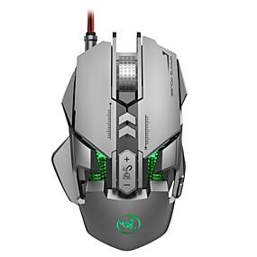 olcso Egér-HXSJ J800 Vezetékes USB Optikai Gaming Mouse / ergonómikus egér RGB fény 6400 dpi 6 állítható DPI szint 7 pcs Kulcsok 7 programozható gomb