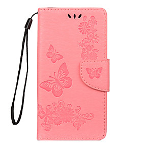 cheap Huawei Honor Cases / Covers-Case For Huawei Huawei Nova 4 / Huawei P20 lite / Huawei P30 Card Holder Full Body Cases Flower PU Leather