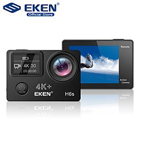 Недорогие Видеорегистраторы для авто-eken h6s plus 4k ultra hd 14mp с дистанционной видеокамерой eis ambarella a12 чип wi-fi 30 м водонепроницаемый panasonic датчик действия камеры автомобильный видеорегистратор
