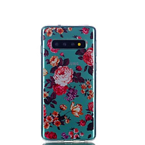 cheap Galaxy J5(2017) Cases / Covers-Case For Samsung Galaxy S9 / S9 Plus / S8 Plus Transparent / Pattern Back Cover Cartoon / Feathers / Flower TPU
