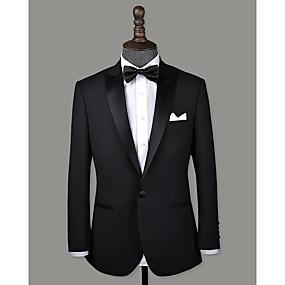 levne Vlastní Tuxedo-černý vrchol klopová vlna na zakázku smokingu
