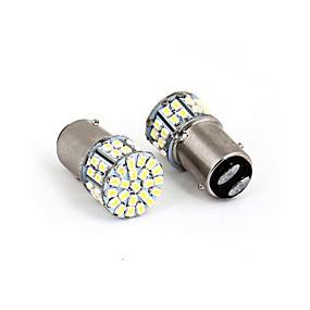 olcso Car Signal Lights-1157 3528 50smd led autó fék stop stop hátsó lámpa izzó fehér új 50 led 50smd 50led 2db