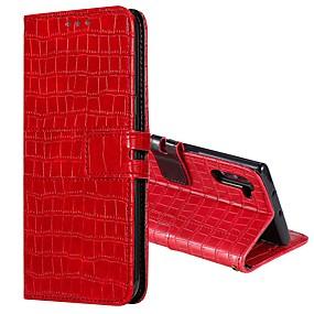 Недорогие Чехлы и кейсы для Galaxy Note 8-Кейс для Назначение SSamsung Galaxy Note 9 / Note 8 / J6 (2018) Кошелек / Бумажник для карт / со стендом Чехол Однотонный Кожа PU