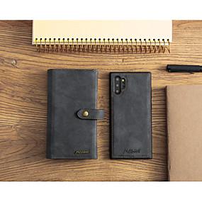 Недорогие Чехлы и кейсы для Galaxy Note 8-Кейс для Назначение SSamsung Galaxy S9 / S9 Plus / S8 Plus Кошелек / Бумажник для карт / Защита от удара Чехол Однотонный Кожа PU