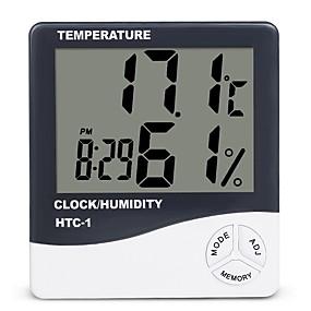 povoljno Mjerači temperature-unutarnja soba lcd elektronski mjerač vlažnosti digitalni termometar higrometar meteorološka stanica budilica htc-1