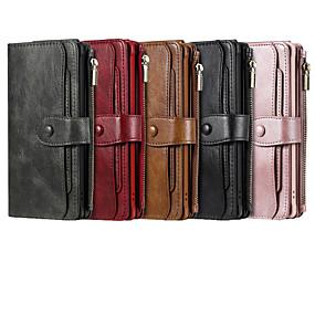 Недорогие Чехлы и кейсы для Galaxy Note 8-Кейс для Назначение SSamsung Galaxy S9 / S9 Plus / S8 Plus Бумажник для карт / Защита от удара Чехол Однотонный Кожа PU