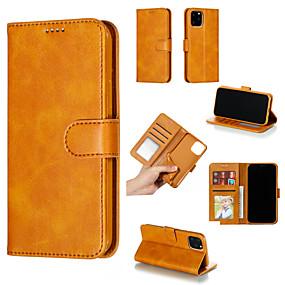 رخيصةأون 8 Plus أغطية أيفون-غطاء من أجل Apple iPhone 8 Plus / iPhone 8 / iPhone 7 Plus محفظة / حامل البطاقات / مع نافذة غطاء كامل للجسم لون سادة قاسي جلد PU