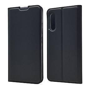 olcso Galaxy Note 9 tokok-Case Kompatibilitás Samsung Galaxy S9 / S9 Plus / S8 Plus Kártyatartó Héjtok Egyszínű PU bőr