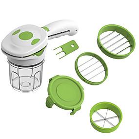 رخيصةأون أدوات & أجهزة المطبخ-6 في 1 السحر ألطف سريعة الفولاذ المقاوم للصدأ الخضروات المقامر المروحية 5 في 1 متعددة الوظائف المطبخ البصل الخضار القاطع القطاعة