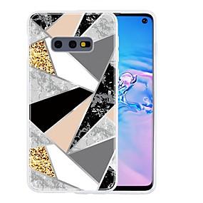 olcso Galaxy S9 Plus tokok-Case Kompatibilitás Samsung Galaxy S9 / S9 Plus / S8 Plus Ultra-vékeny / Minta Fekete tok Mértani formák / Márvány TPU
