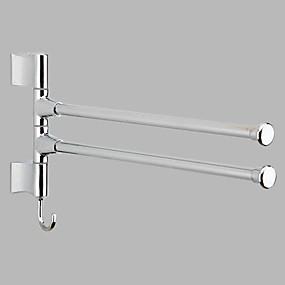 رخيصةأون أدوات الحمام-قضيب المنشفة تصميم جديد / كوول معاصر الفولاذ المقاوم للصدأ / الحديد 1PC مزدوج مثبت على الحائط