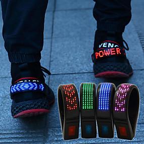 お買い得  夜間安全用反射ギア-靴クリップ 1個 光る ABS樹脂 のために ランニング / サイクリング / ジョギング レッド / ブルー / マルチカラー 充電式