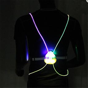 お買い得  夜間安全用反射ギア-反射ストラップ 1個 光る / LED クロス のために ランニング / サイクリング / ジョギング ホワイト / レッド / ブルー ボタン