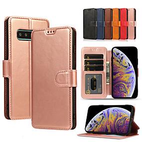olcso Galaxy S9 Plus tokok-forsamsung galaxy s10plus / s10e / s10 / s9 / s9plus / s8plus / s8 / note10 / note10pro / note9 / note8 / note8 pénztárca / kártyatartó / ütésálló teljes testű tokok, színes pu pu / tpu
