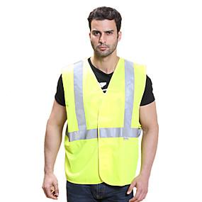 お買い得  夜間安全用反射ギア-反射ベスト 1個 安全用具 / 調整可 / 速乾性 クロス のために ランニング / 警察 / 軍隊 / サイクリング