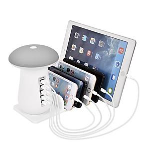 olcso USB Töltők-usb töltőállomás több eszközhöz 5 portos gyorstöltő asztali dokkoló szervező, 3.0 kompatibilis az iphone ipaddal