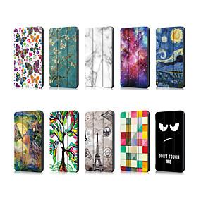 Недорогие Чехол для планшета Huawei-Кейс для Назначение Huawei MediaPad Huawei Mediapad T5 10 / Huawei Mediapad M5 Lite 10 Оригами Чехол Пейзаж / Мультипликация Кожа PU
