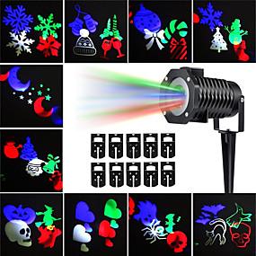 olcso LED projektorok-kwb 10db halloween karácsonyi gyepfényszórók vízálló / kreatív / projektor világos többszínű kültéri világítás 10 led gyöngyök