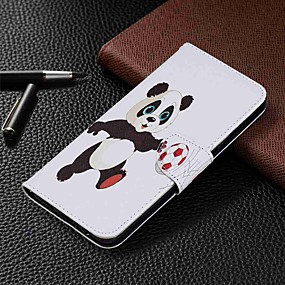 olcso Galaxy S8 tokok-Case Kompatibilitás Samsung Galaxy S9 / S9 Plus / S8 Plus Pénztárca / Kártyatartó / Állvánnyal Héjtok Panda PU bőr / TPU