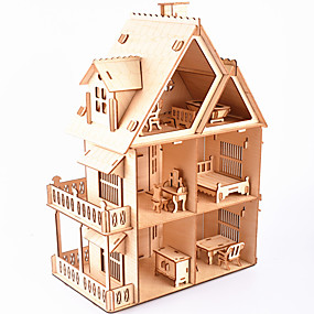 cheap Educational Toys-3D Puzzle Wooden Puzzle Architecture Simulation Hand-made Wooden 218 pcs Kid's Adults' All Toy Gift